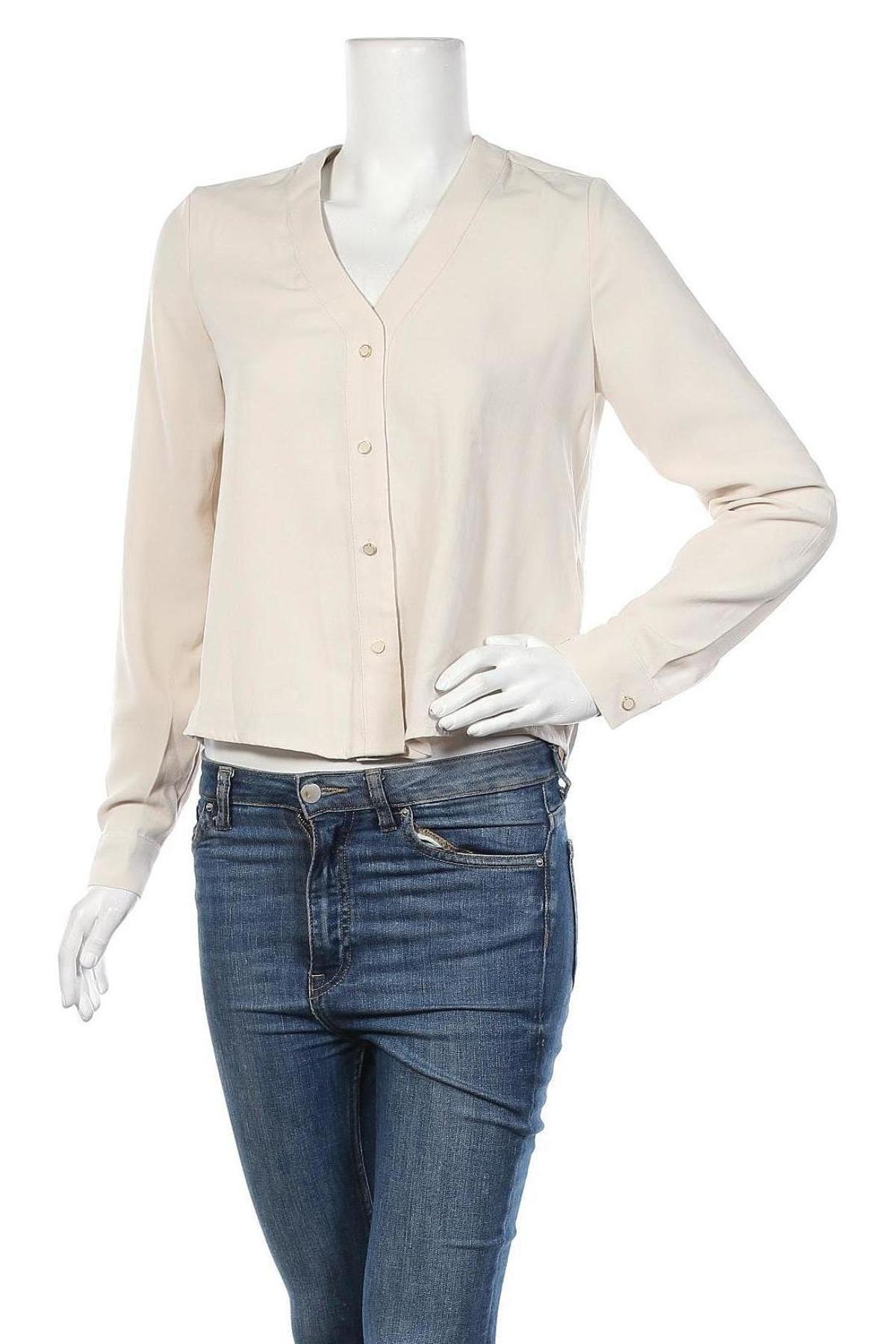 Дамска риза Camaieu, Размер XS, Цвят Бежов, Полиестер, Цена 12,88лв.