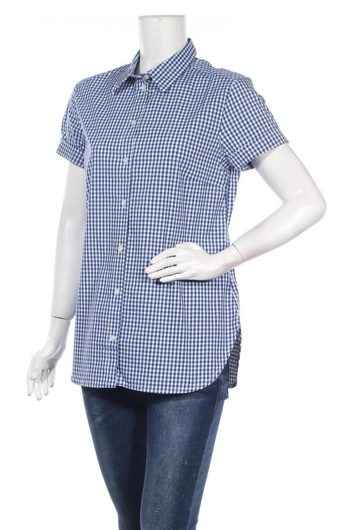 Дамска риза La Fee Maraboutee, Размер L, Цвят Син, Памук, Цена 61,74лв.
