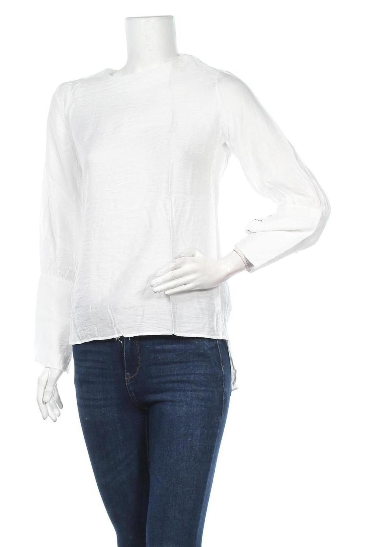 Дамска риза One & Two, Размер L, Цвят Бял, 60% полиестер, 40% памук, Цена 12,25лв.