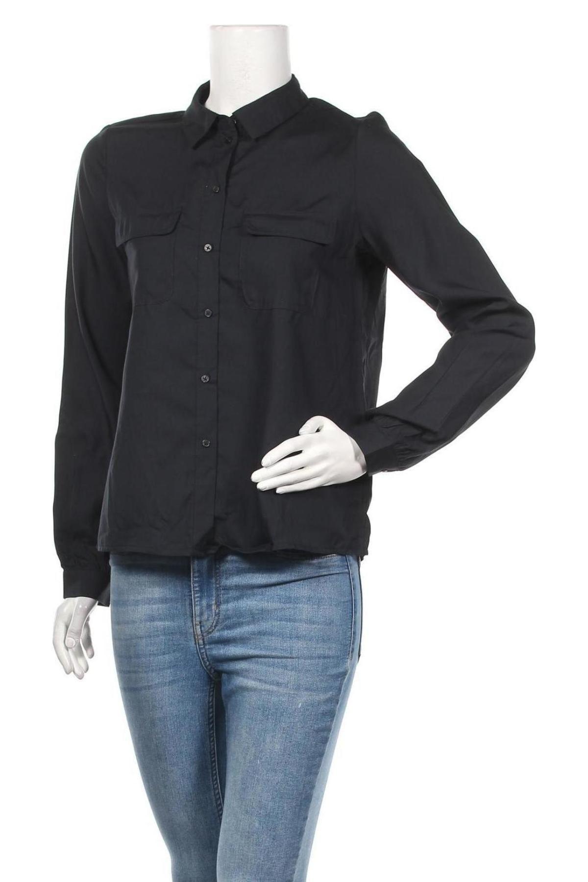 Дамска риза Vero Moda, Размер S, Цвят Син, Лиосел, Цена 13,50лв.