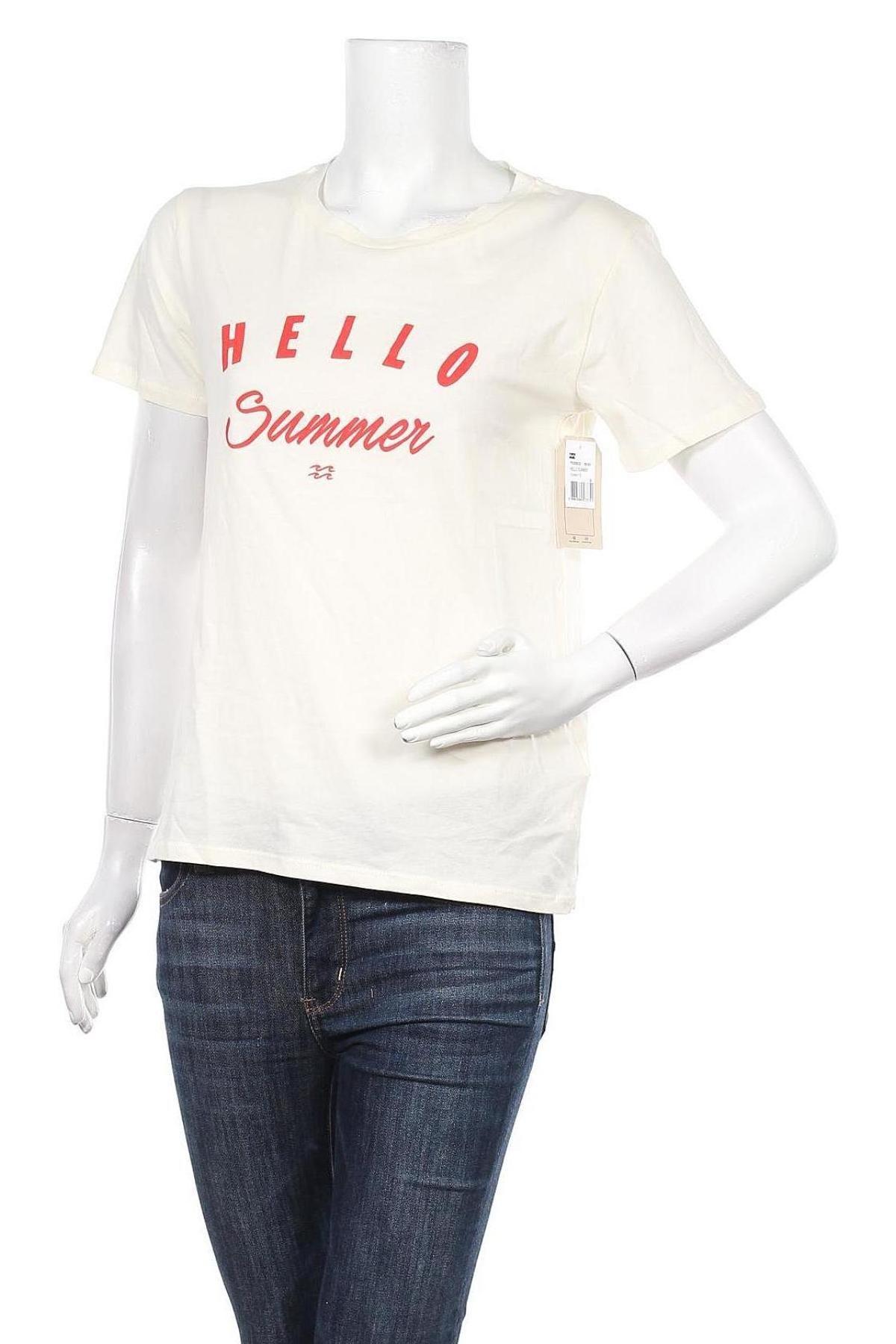 Дамска тениска Billabong, Размер S, Цвят Екрю, Памук, Цена 31,85лв.