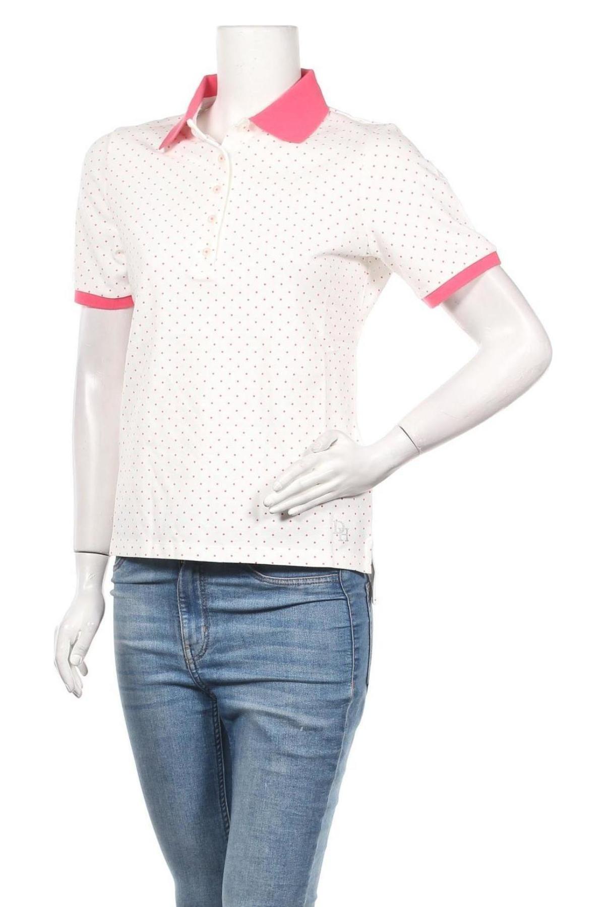 Дамска тениска Daniel Hechter, Размер S, Цвят Бял, 95% памук, 5% еластан, Цена 38,40лв.