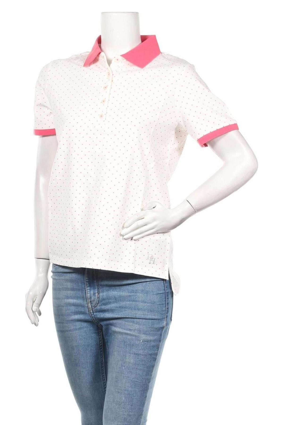 Дамска тениска Daniel Hechter, Размер M, Цвят Бял, 95% памук, 5% еластан, Цена 38,40лв.