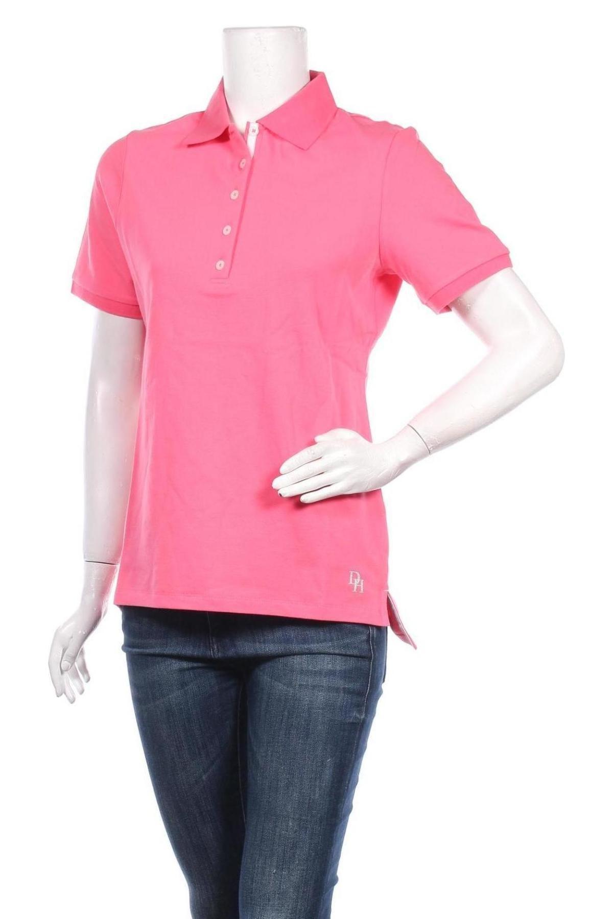 Дамска тениска Daniel Hechter, Размер M, Цвят Розов, 95% памук, 5% еластан, Цена 38,35лв.