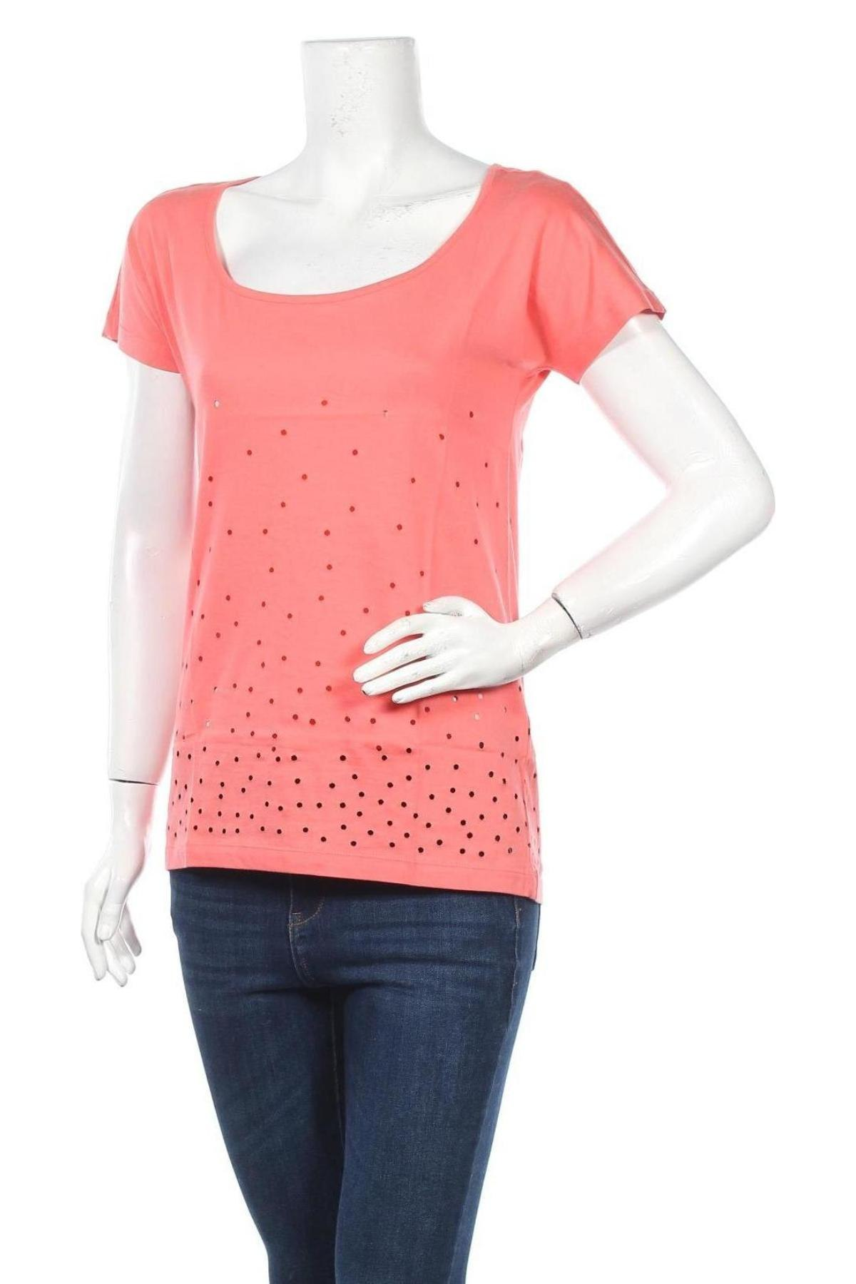 Дамска тениска Even&Odd, Размер M, Цвят Оранжев, 100% памук, Цена 16,24лв.