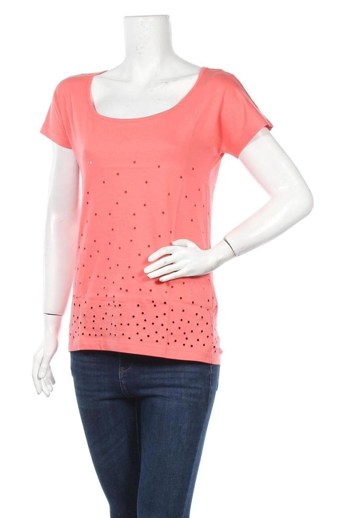 Дамска тениска Even&Odd, Размер L, Цвят Оранжев, 100% памук, Цена 16,24лв.