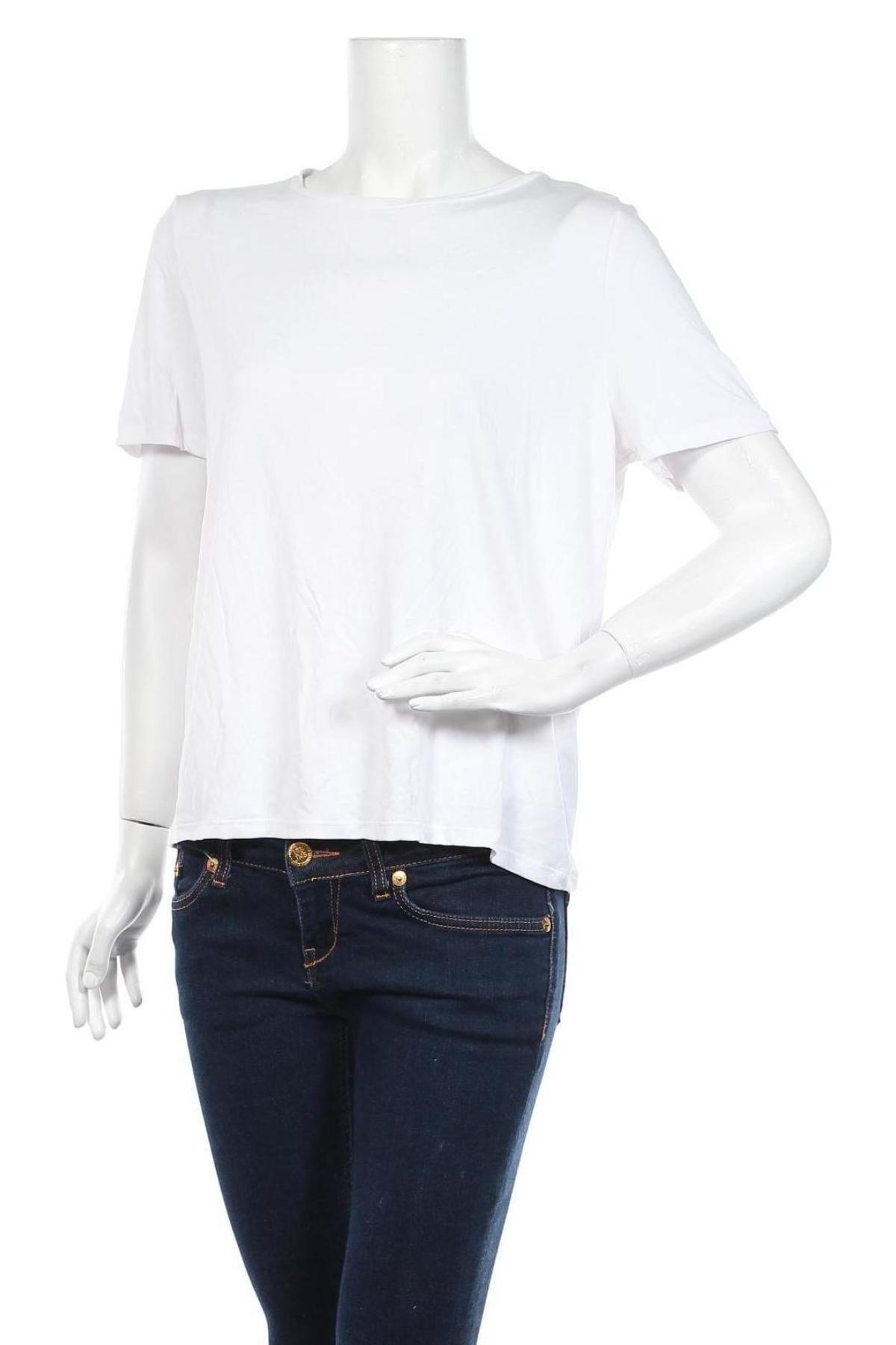Дамска тениска Object, Размер M, Цвят Бял, 65% модал, 35% полиестер, Цена 19,04лв.