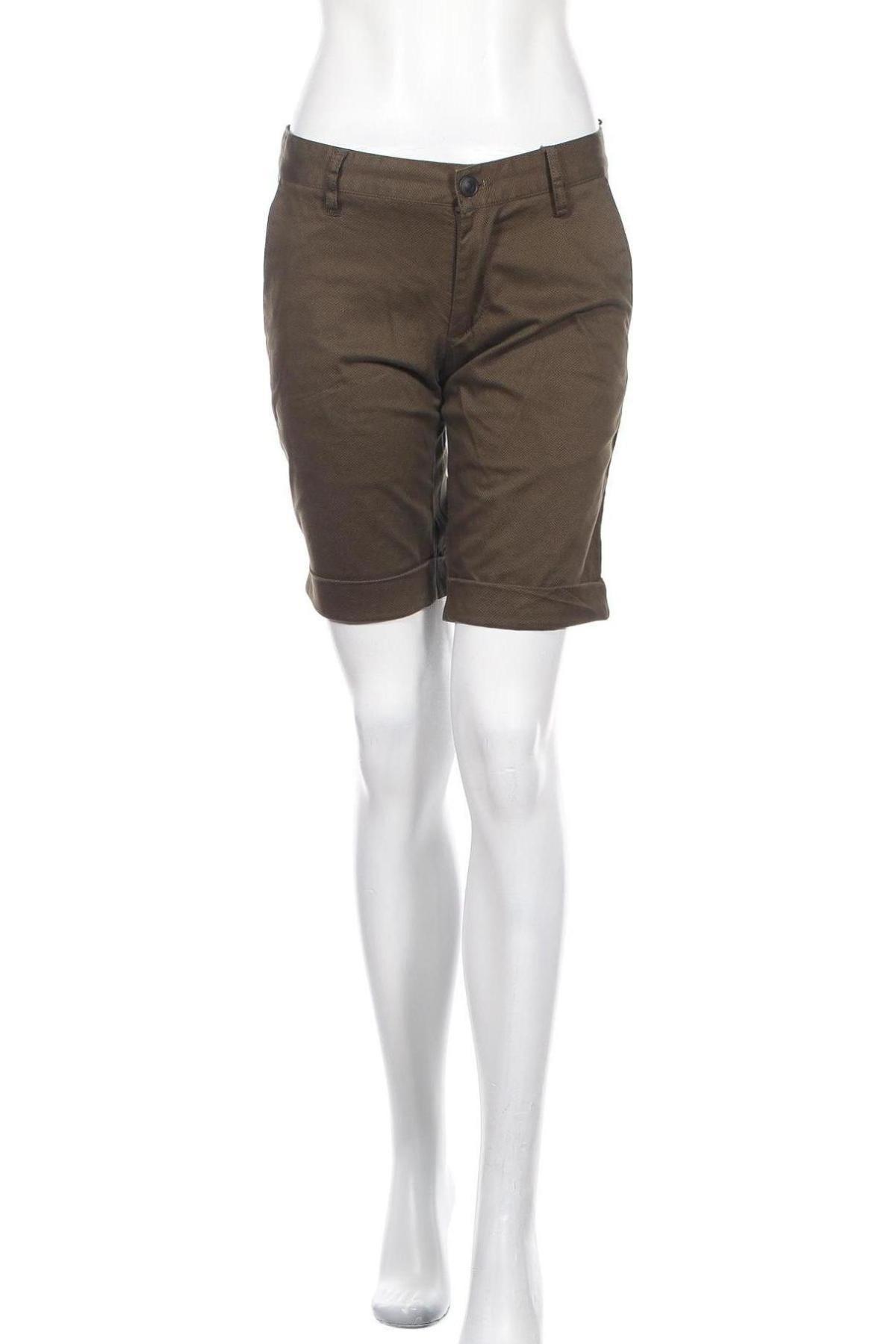Γυναικείο κοντό παντελόνι Deep End, Μέγεθος S, Χρώμα Πράσινο, 97% βαμβάκι, 3% ελαστάνη, Τιμή 15,16€