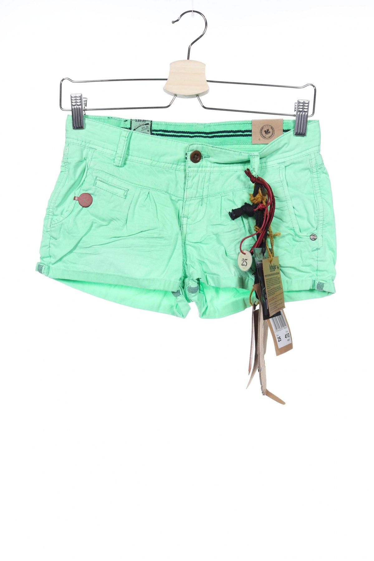 Pantaloni scurți de femei Khujo, Mărime XS, Culoare Verde, Bumbac, Preț 244,24 Lei