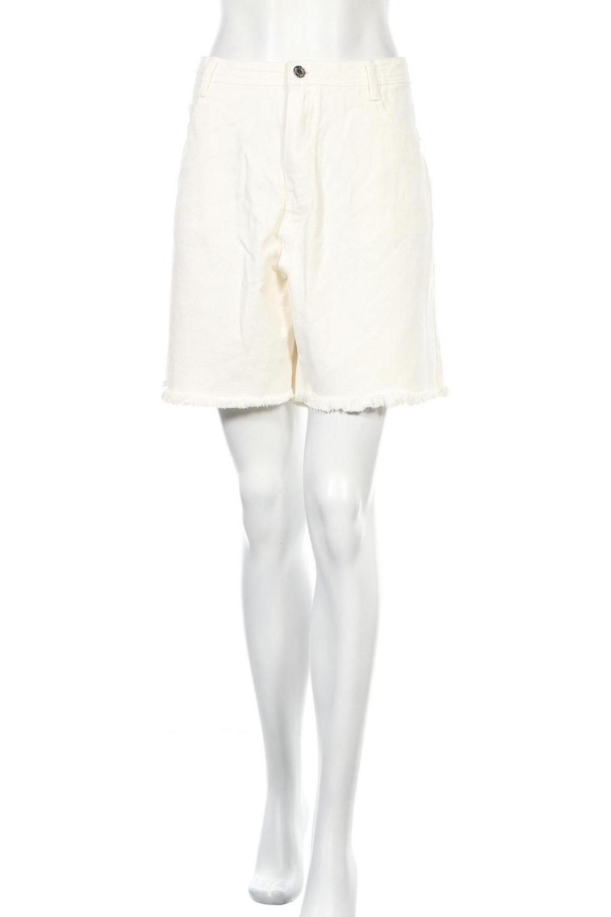 Γυναικείο κοντό παντελόνι Missguided, Μέγεθος XL, Χρώμα Λευκό, Βαμβάκι, Τιμή 15,88€
