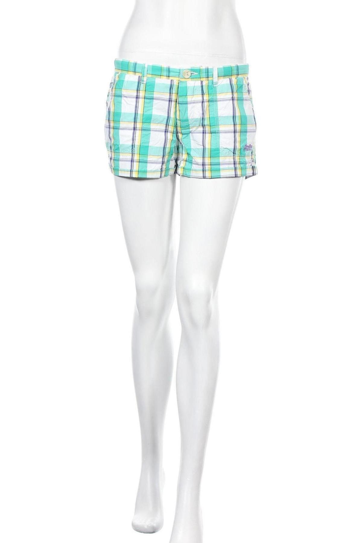Γυναικείο κοντό παντελόνι Superdry, Μέγεθος S, Χρώμα Πολύχρωμο, 100% βαμβάκι, Τιμή 23,12€