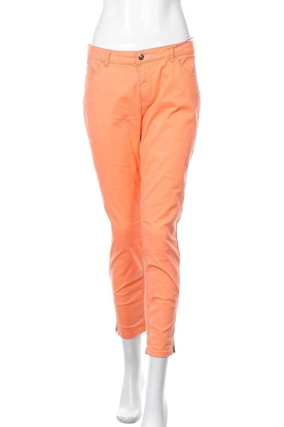 Дамски панталон Christian Berg, Размер L, Цвят Оранжев, 98% памук, 2% еластан, Цена 26,28лв.