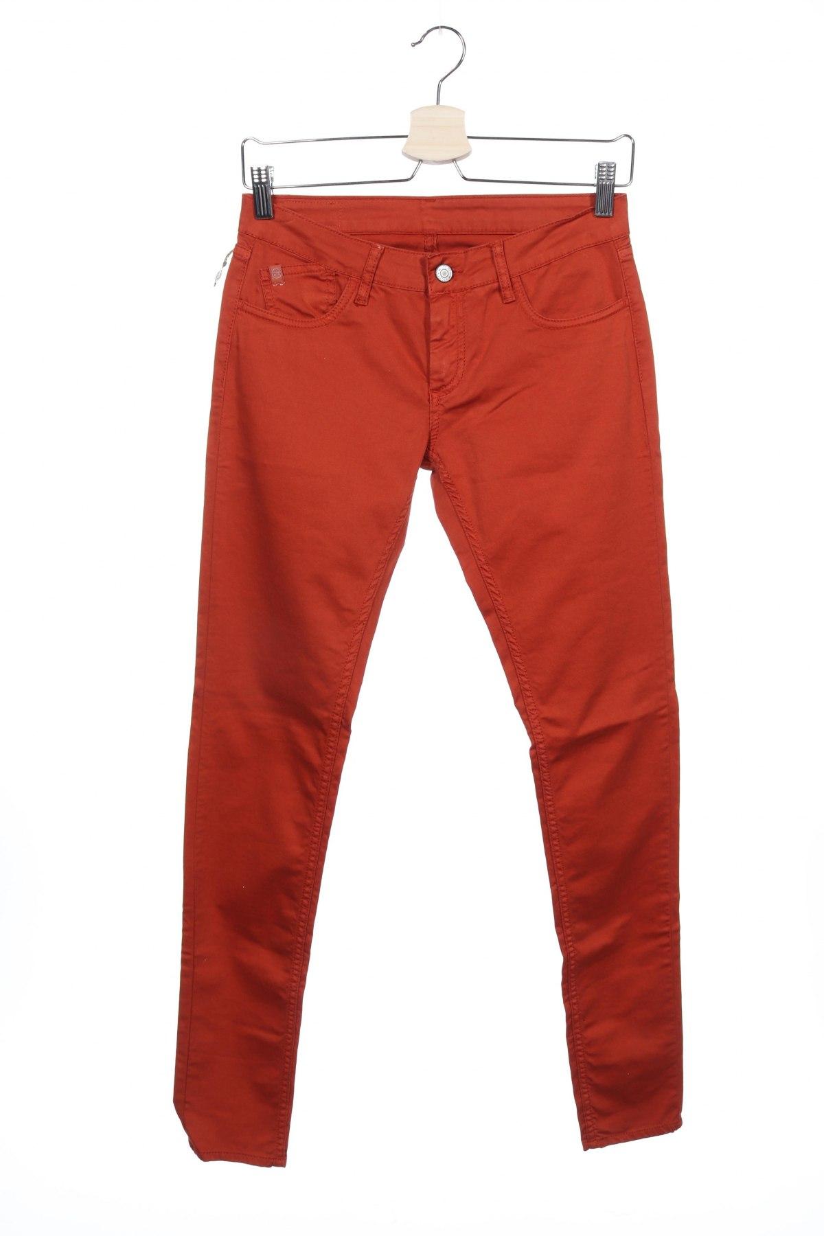 Дамски панталон Le Temps Des Cerises, Размер S, Цвят Оранжев, Памук, еластан, Цена 18,36лв.