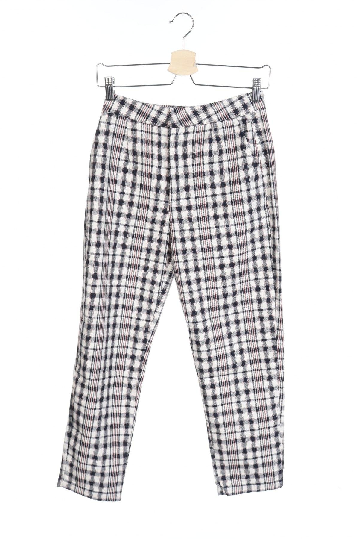 Дамски панталон Pull&Bear, Размер XS, Цвят Многоцветен, 68% полиестер, 32% памук, Цена 11,80лв.