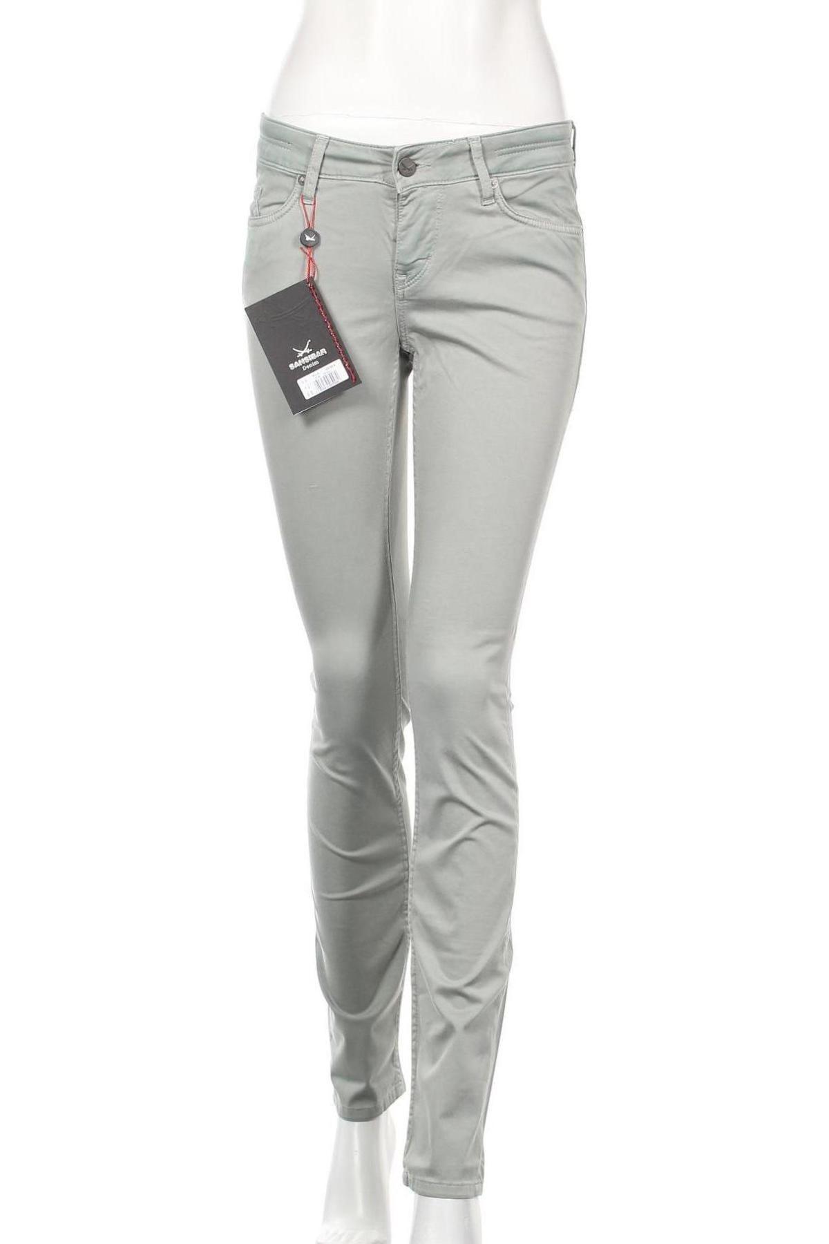 Дамски панталон Sansibar, Размер S, Цвят Зелен, 97% памук, 3% еластан, Цена 37,80лв.