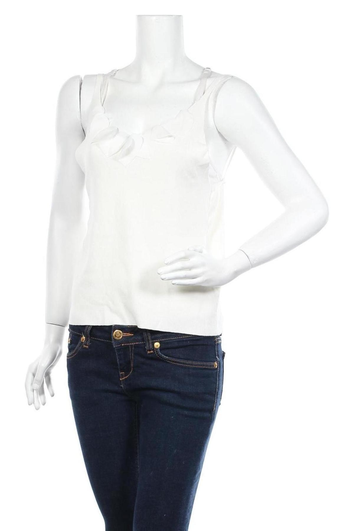 Γυναικείο αμάνικο μπλουζάκι Molly Bracken, Μέγεθος L, Χρώμα Λευκό, Βισκόζη, Τιμή 6,06€