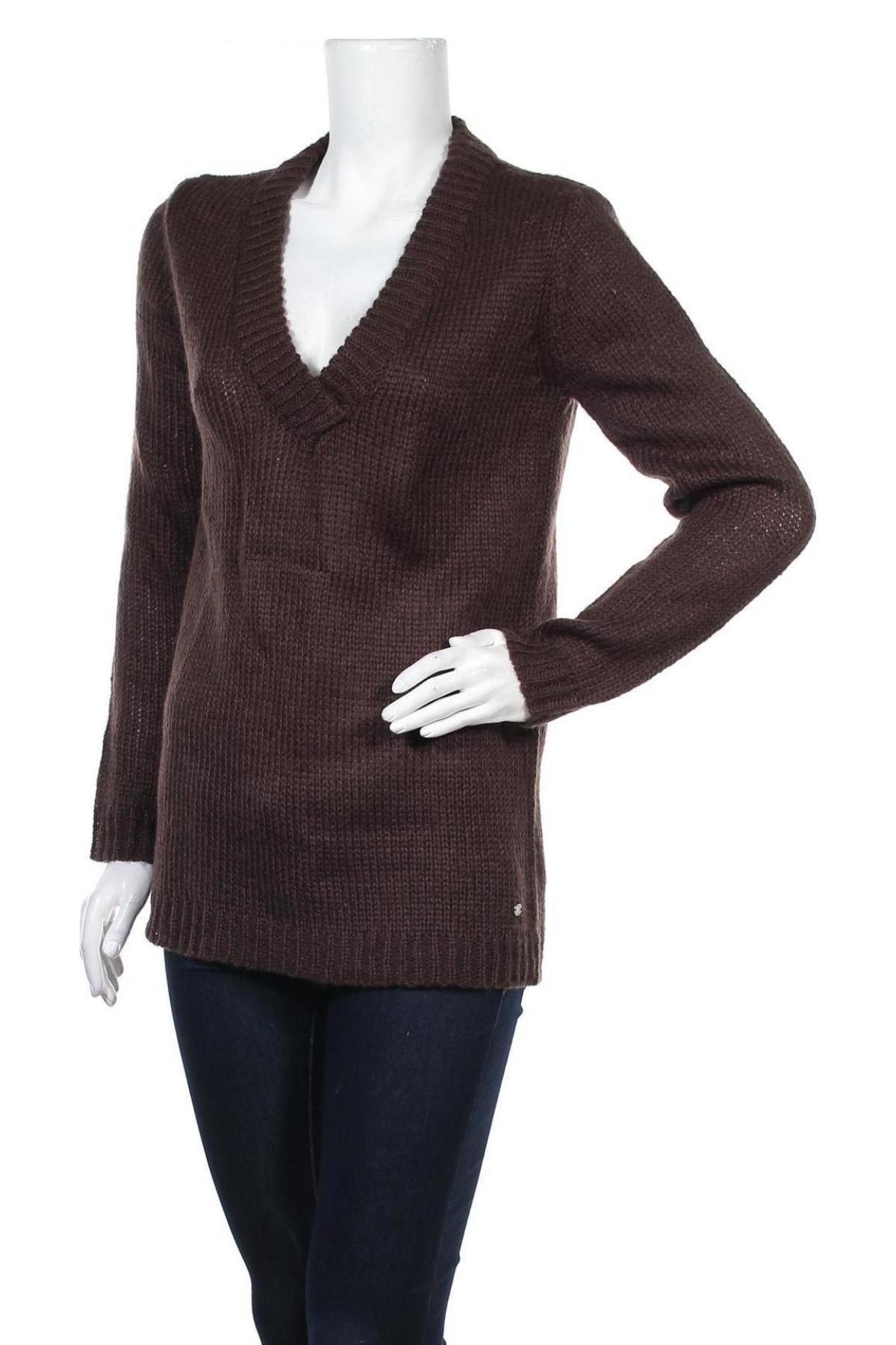 Дамски пуловер Top Secret, Размер M, Цвят Кафяв, 80% акрил, 10% вълна, 10% мохер, Цена 59,25лв.