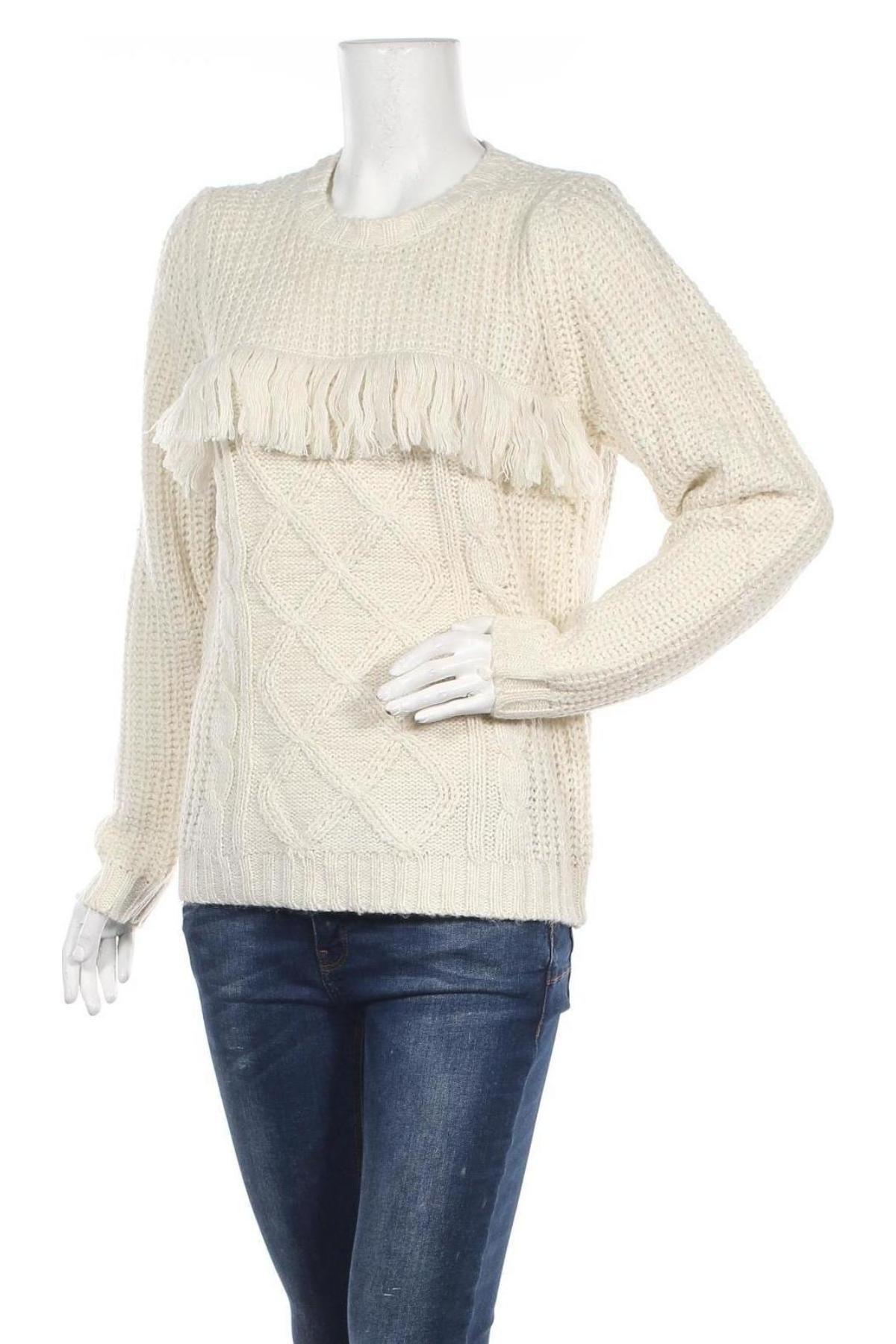 Дамски пуловер Troll, Размер M, Цвят Екрю, 100% акрил, Цена 42,00лв.