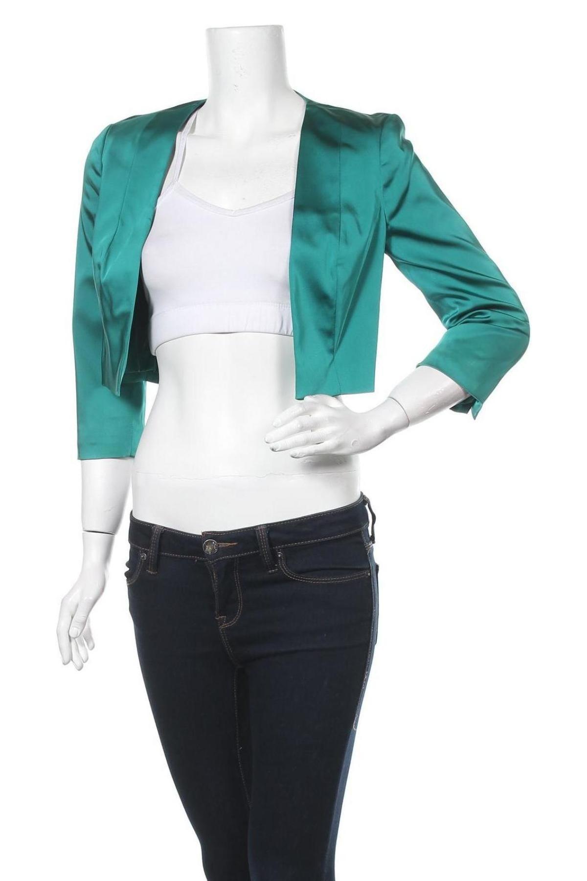 Дамско сако Mariposa, Размер S, Цвят Зелен, 78% ацетат, 19% полиамид, 3% еластан, Цена 17,25лв.