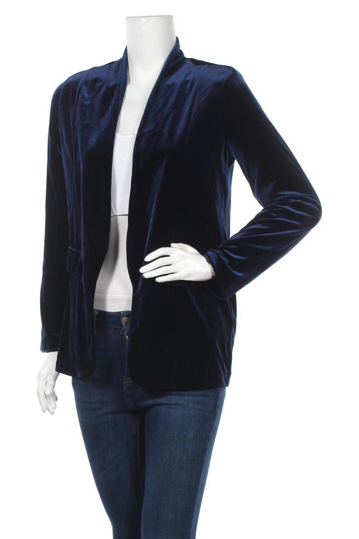 Дамско сако Top Secret, Размер S, Цвят Син, 95% полиестер, 5% еластан, Цена 19,32лв.