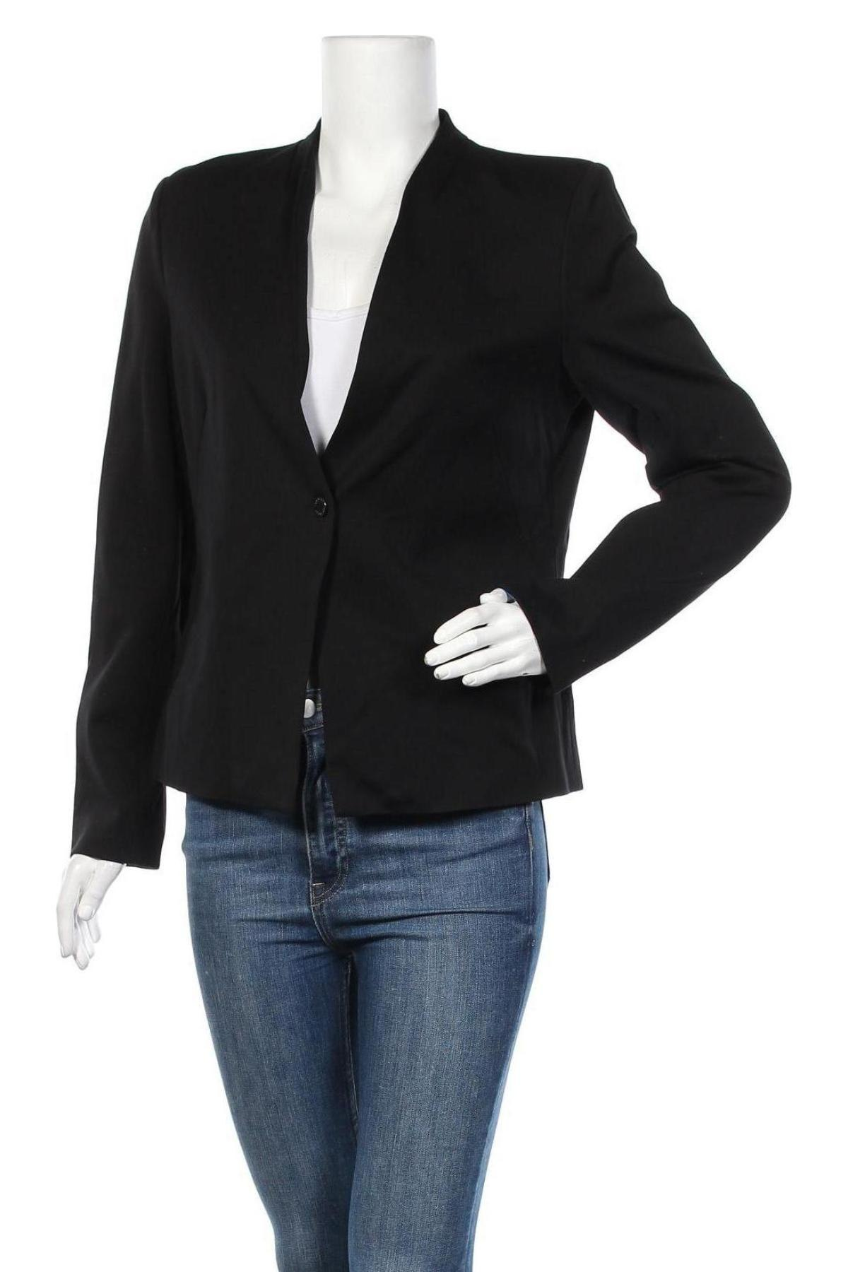 Дамско сако Top Secret, Размер L, Цвят Черен, 56% вискоза, 39% полиамид, 5% еластан, Цена 18,48лв.