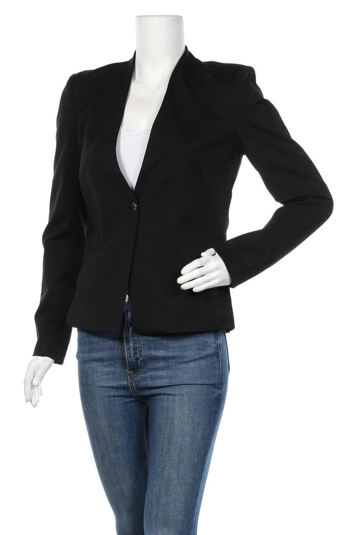 Дамско сако Top Secret, Размер M, Цвят Черен, 56% вискоза, 39% полиамид, 5% еластан, Цена 18,48лв.