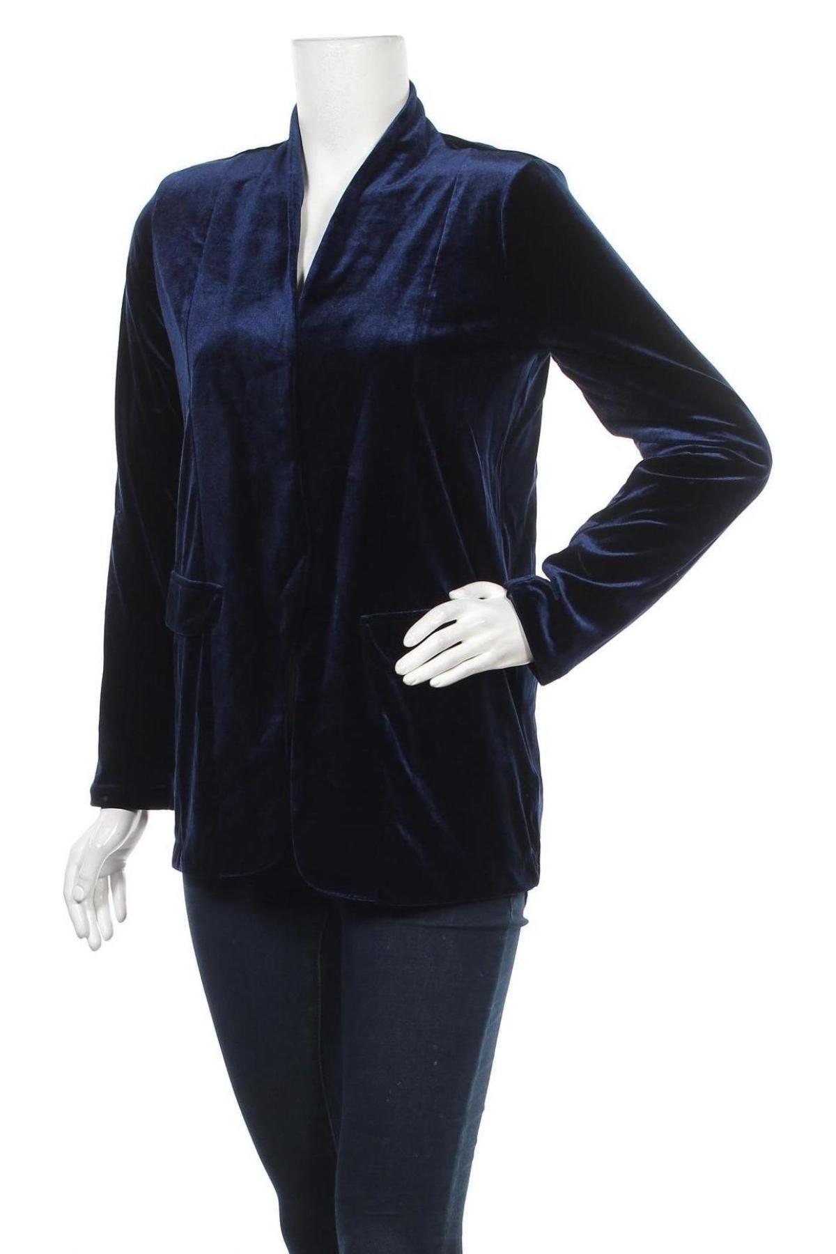Дамско сако Top Secret, Размер S, Цвят Син, 95% полиестер, 5% еластан, Цена 19,00лв.