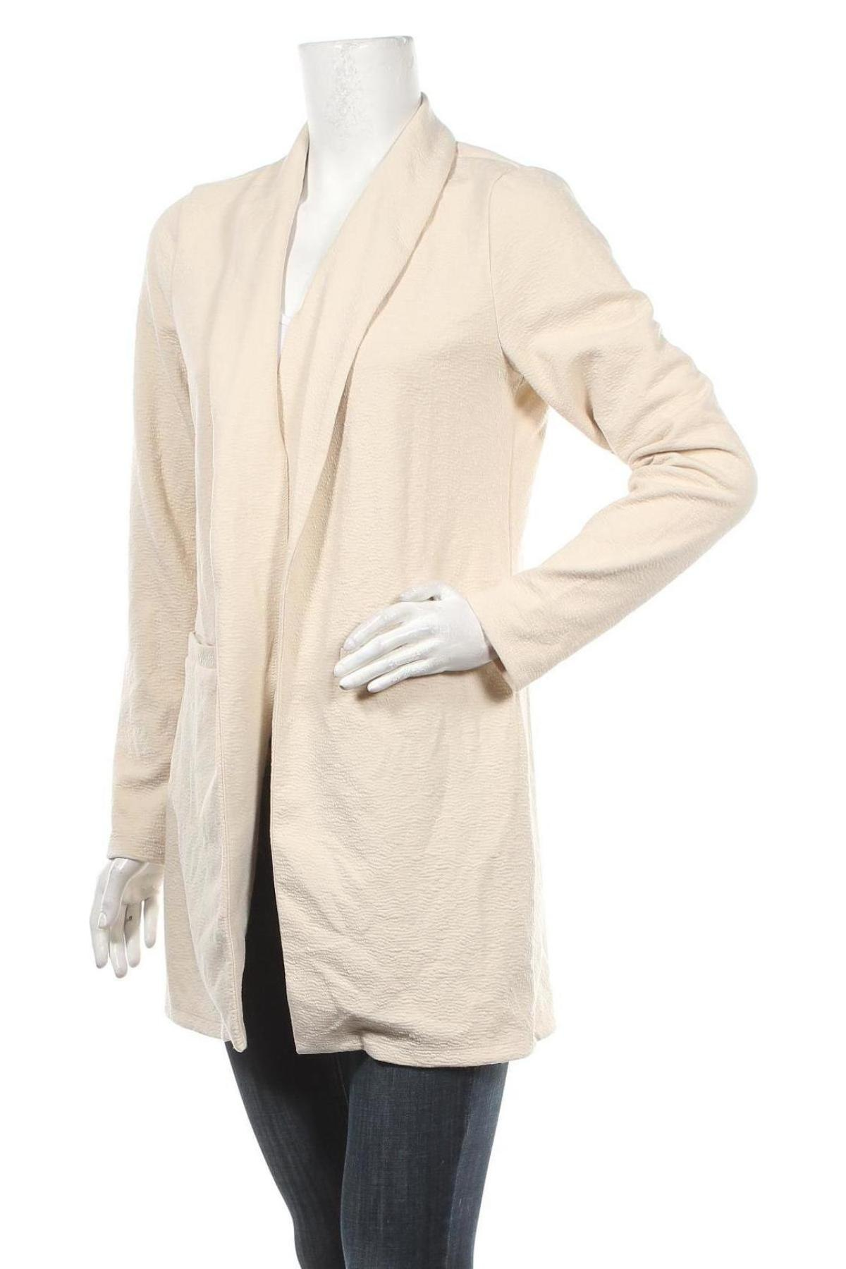 Дамско сако Vero Moda, Размер M, Цвят Бежов, 96% полиестер, 4% еластан, Цена 19,00лв.