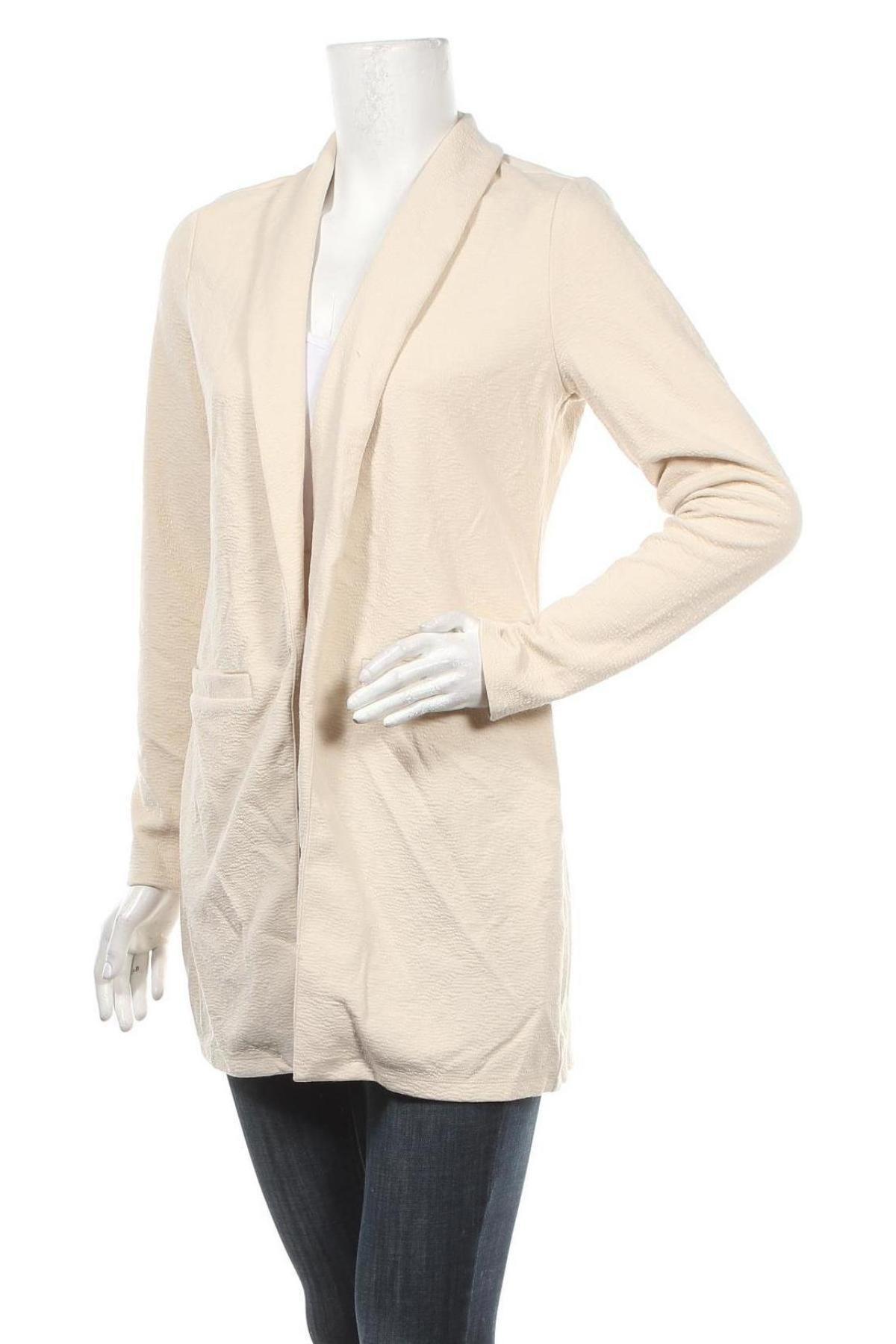 Дамско сако Vero Moda, Размер S, Цвят Бежов, 96% полиестер, 4% еластан, Цена 19,00лв.