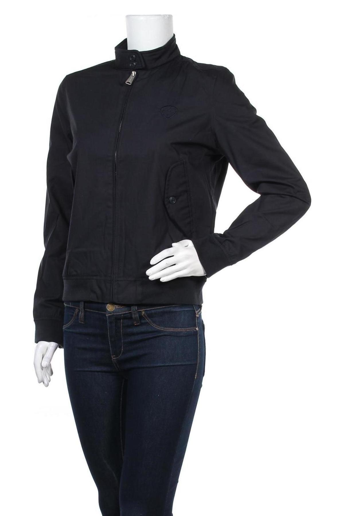 Дамско яке Schott, Размер M, Цвят Син, 65% полиестер, 35% памук, Цена 34,01лв.