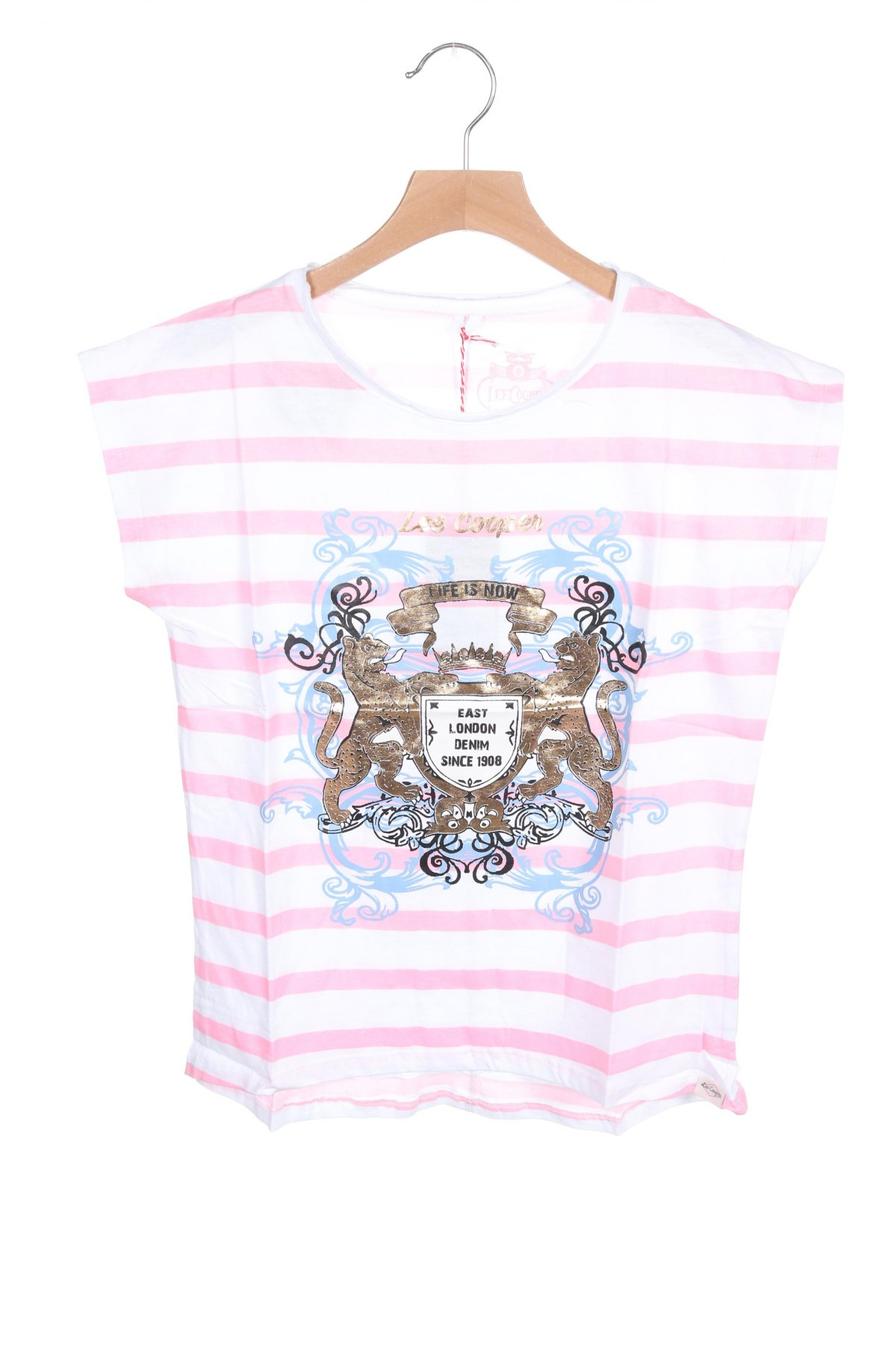 Детска блуза Lee Cooper, Размер 10-11y/ 146-152 см, Цвят Бял, Памук, Цена 24,00лв.