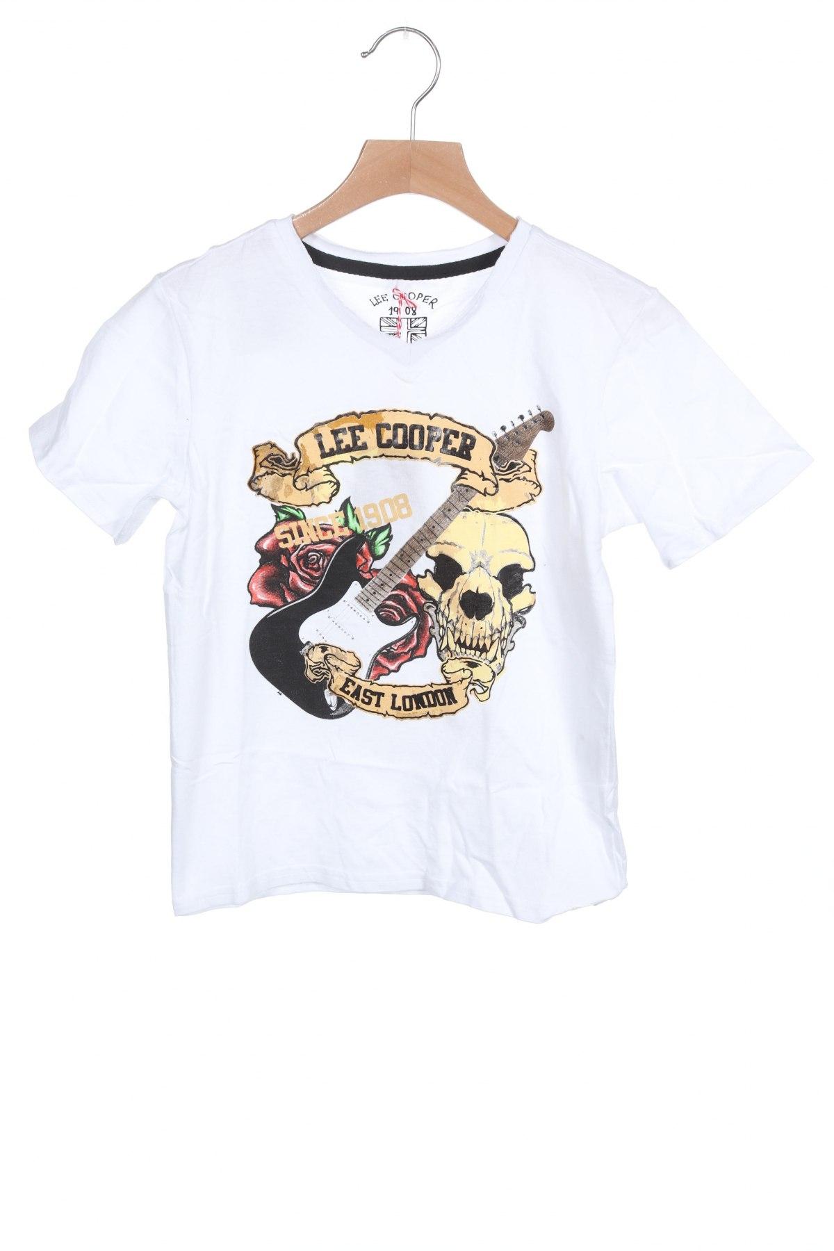 Детска тениска Lee Cooper, Размер 6-7y/ 122-128 см, Цвят Бял, Памук, Цена 21,75лв.