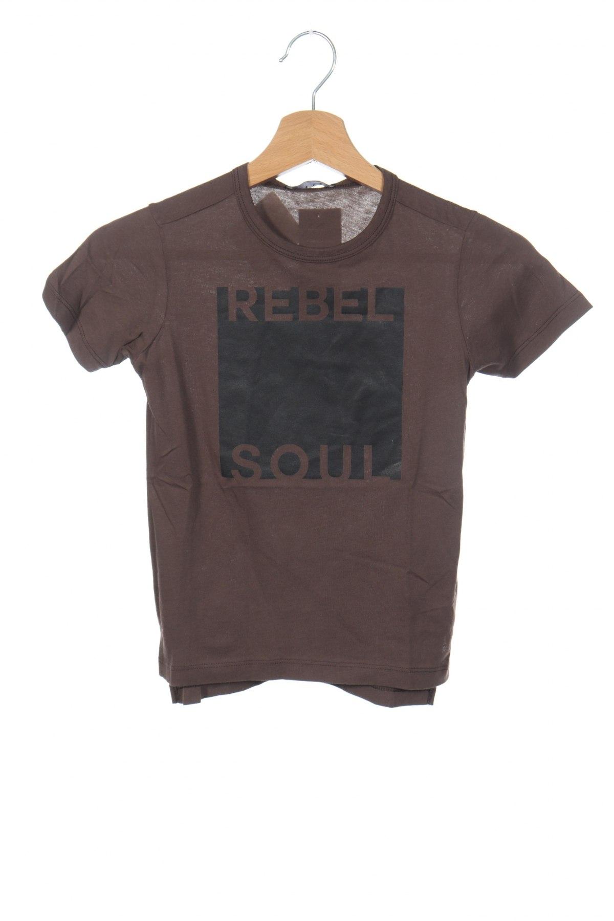 Παιδικό μπλουζάκι Sisley, Μέγεθος 5-6y/ 116-122 εκ., Χρώμα Καφέ, Βαμβάκι, Τιμή 11,39€