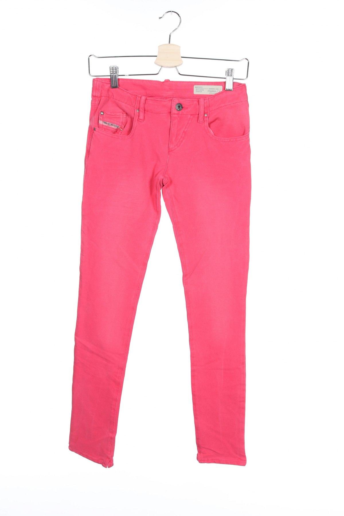 Blugi pentru copii Diesel, Mărime 13-14y/ 164-168 cm, Culoare Roz, 97% bumbac, 3% elastan, Preț 318,26 Lei