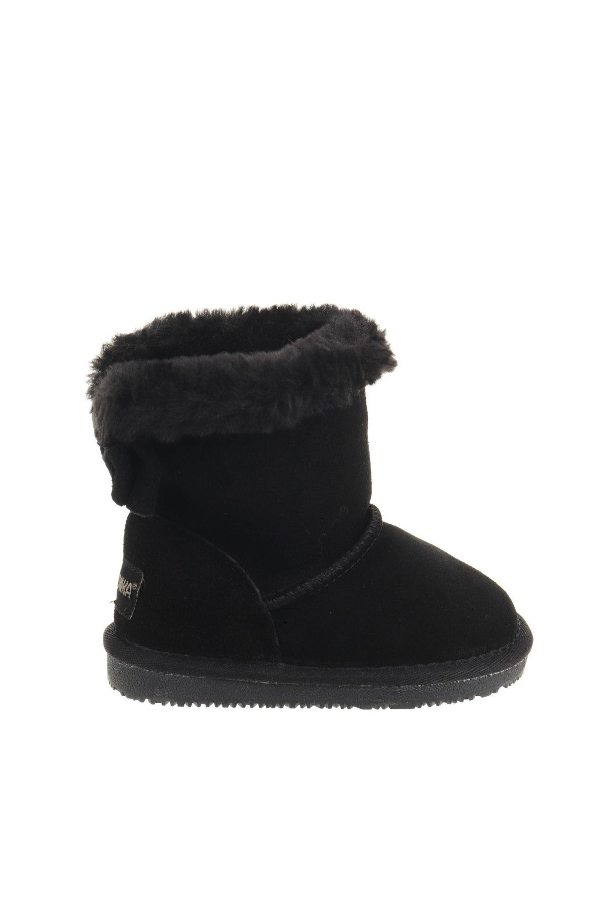 Παιδικά παπούτσια Minnetonka, Μέγεθος 23, Χρώμα Μαύρο, Φυσικό σουέτ, Τιμή 30,81€