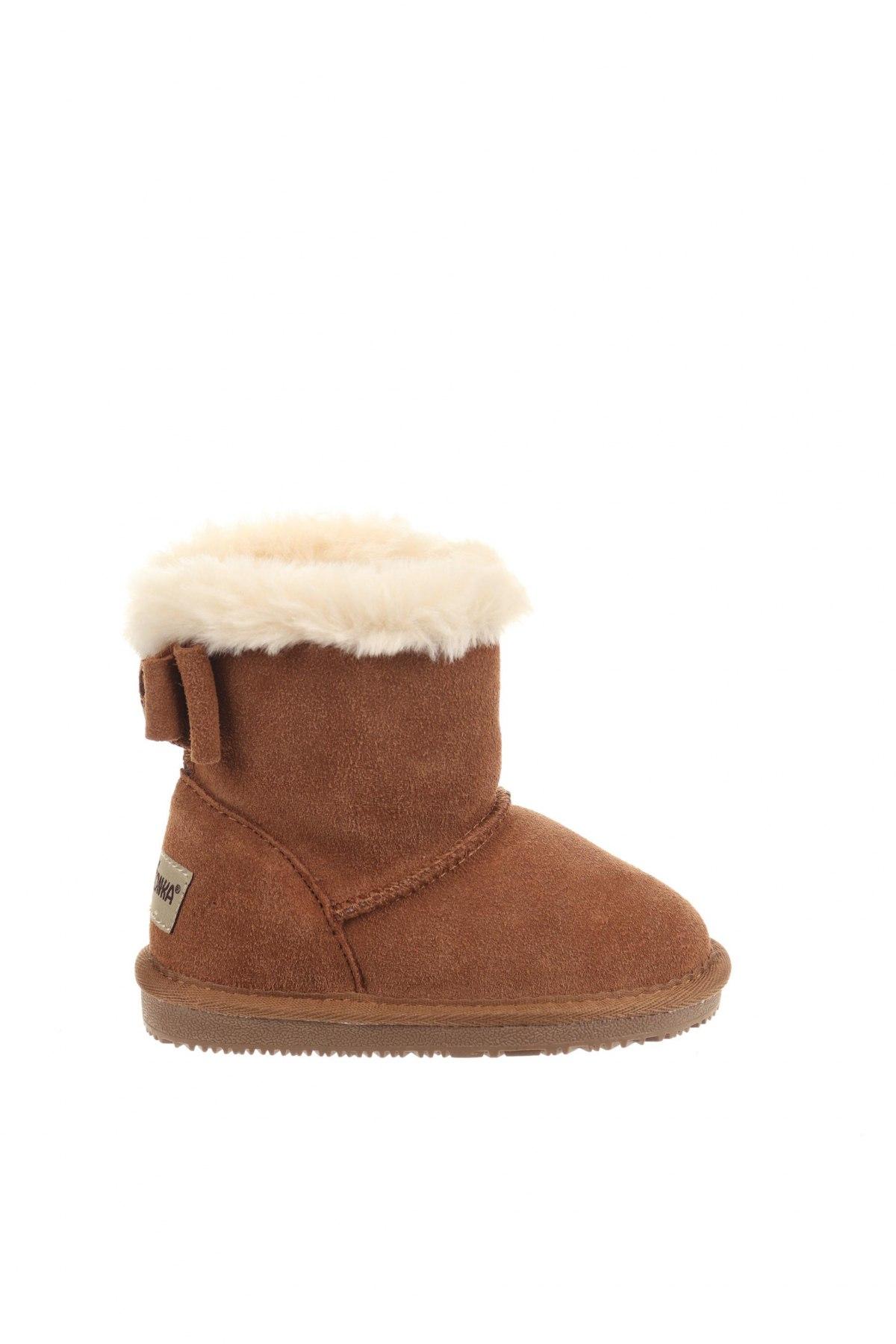 Παιδικά παπούτσια Minnetonka, Μέγεθος 24, Χρώμα Καφέ, Φυσικό σουέτ, Τιμή 37,97€