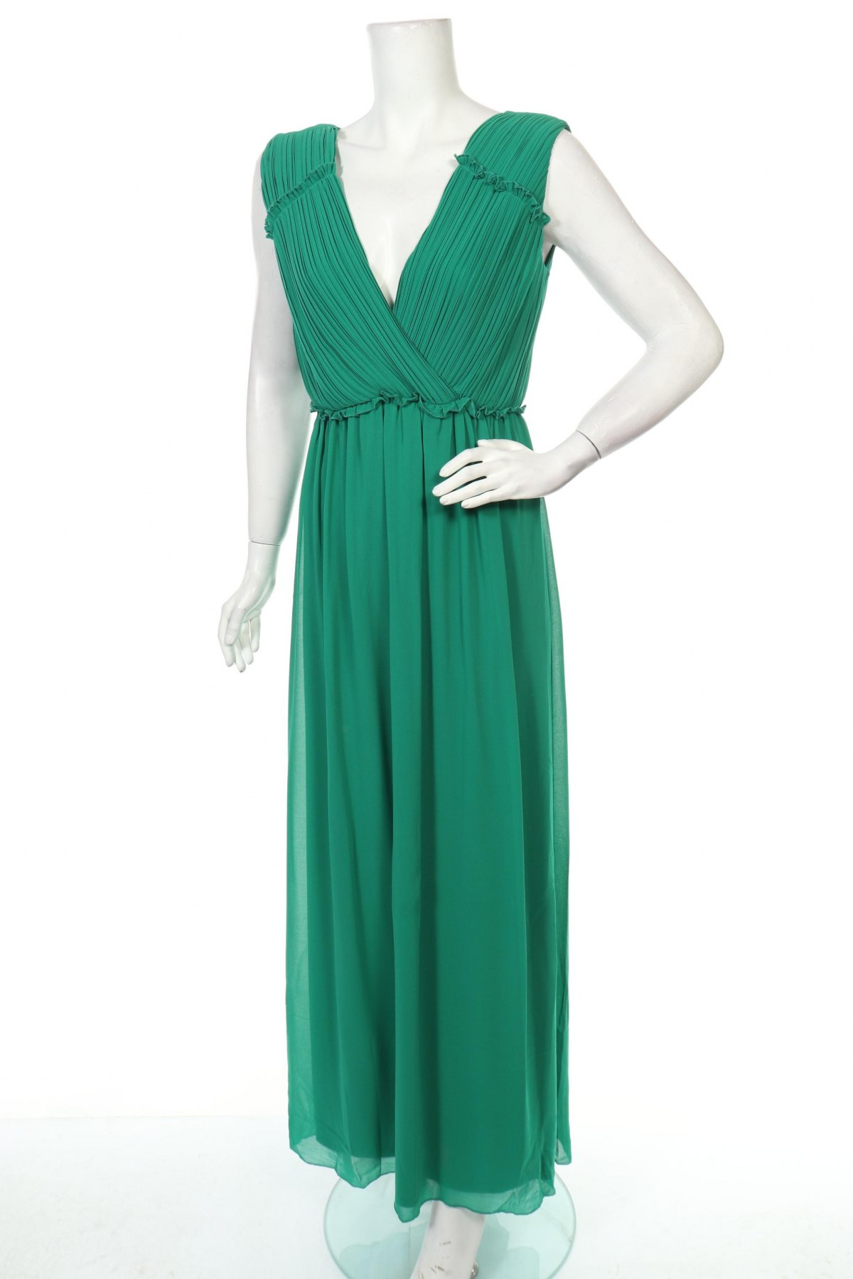 Рокля Vila, Размер S, Цвят Зелен, 100% полиестер, Цена 72,00лв.