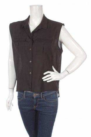 Дамска риза H&M, Размер M, Цвят Черен, 100% полиестер, Цена 4,50лв.