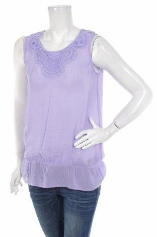 Γυναικείο αμάνικο μπλουζάκι Cha Cha, Μέγεθος S, Χρώμα Βιολετί, 55% πολυεστέρας, 45% βαμβάκι, Τιμή 2,60€