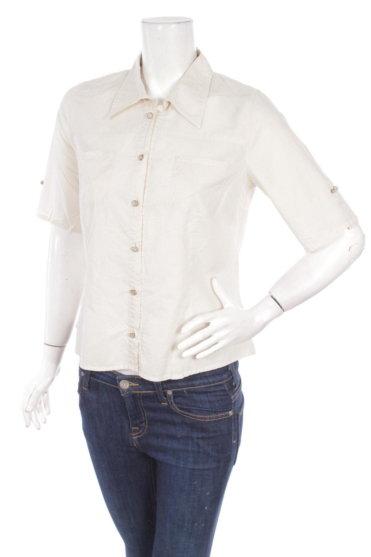 Γυναικείο πουκάμισο Gina B, Μέγεθος M, Χρώμα Γκρί, Βαμβάκι, Τιμή 9,28€