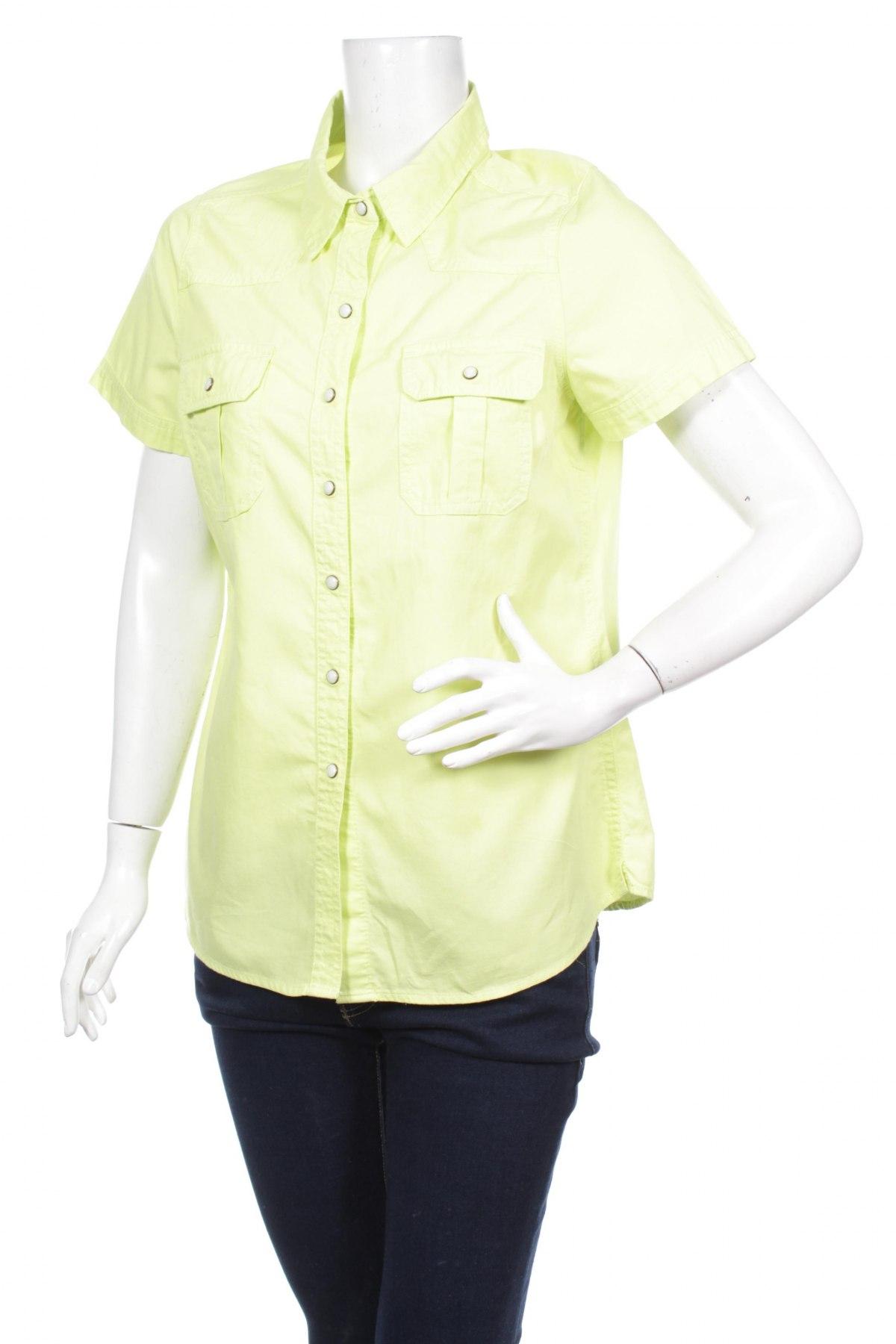 Γυναικείο πουκάμισο Janina, Μέγεθος M, Χρώμα Πράσινο, Βαμβάκι, Τιμή 9,90€