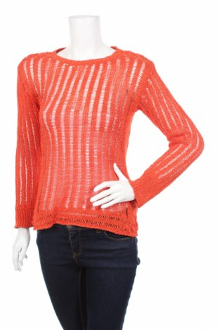 Дамски пуловер Object, Размер S, Цвят Оранжев, 87% акрил, 13% полиестер, Цена 3,00лв.