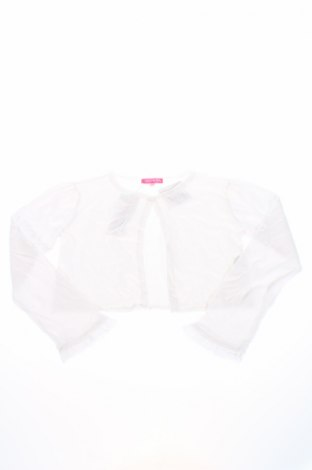 Детска жилетка Derhy, Размер 12-13y/ 158-164 см, Цвят Бял, 50% памук, 40% вискоза, 10% полиамид, Цена 11,27лв.