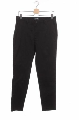 Ανδρικό παντελόνι Boohoo, Μέγεθος M, Χρώμα Μαύρο, 98% βαμβάκι, 2% ελαστάνη, Τιμή 6,16€