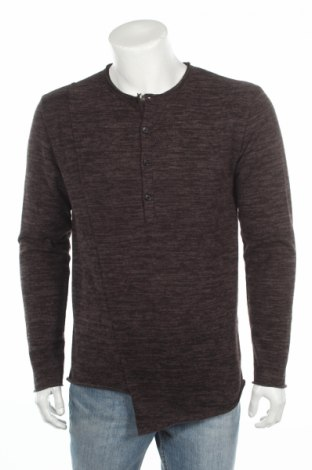 Ανδρικό πουλόβερ Made In Italy, Μέγεθος XL, Χρώμα Γκρί, 75% πολυεστέρας, 20% βαμβάκι, 5% ελαστάνη, Τιμή 5,63€