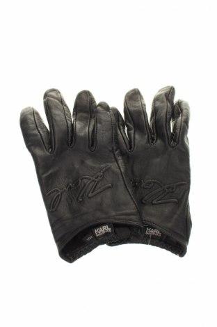 Rukavice  Karl Lagerfeld, Barva Černá, Pravá kůže, Cena  1578,00Kč