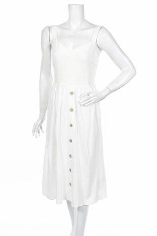 Рокля New Look, Размер S, Цвят Бял, 78% вискоза, 22% лен, Цена 26,88лв.