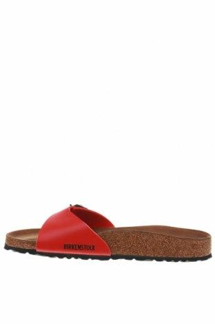 Γυναικείες παντόφλες Birkenstock, Μέγεθος 41, Χρώμα Κόκκινο, Δερματίνη, Τιμή 36,86€