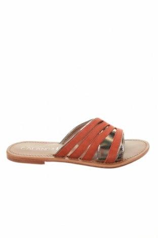 Γυναικείες παντόφλες Calank, Μέγεθος 39, Χρώμα Πορτοκαλί, Γνήσιο δέρμα, Τιμή 32,58€