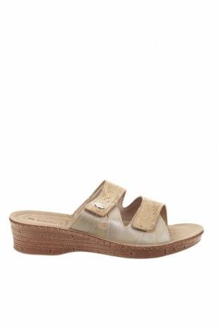 Papuci Inblu, Mărime 41, Culoare Auriu, Piele ecologică, Preț 87,34 Lei